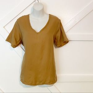 Project Social T Silk Raw Hem Short Sleeve Tee M